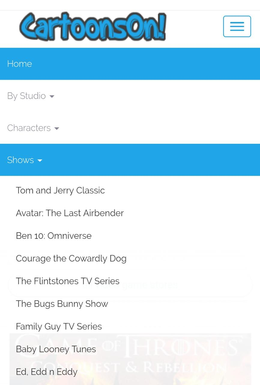 Pick your Favorite Cartoon from the list
