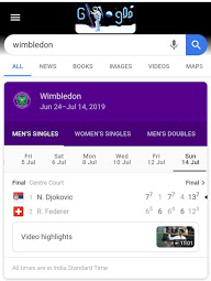 Wimbledon - Google easter search egg