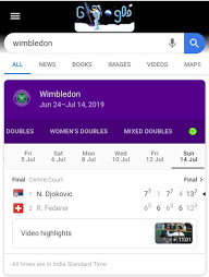 Wimbledon ball - Google easter search egg