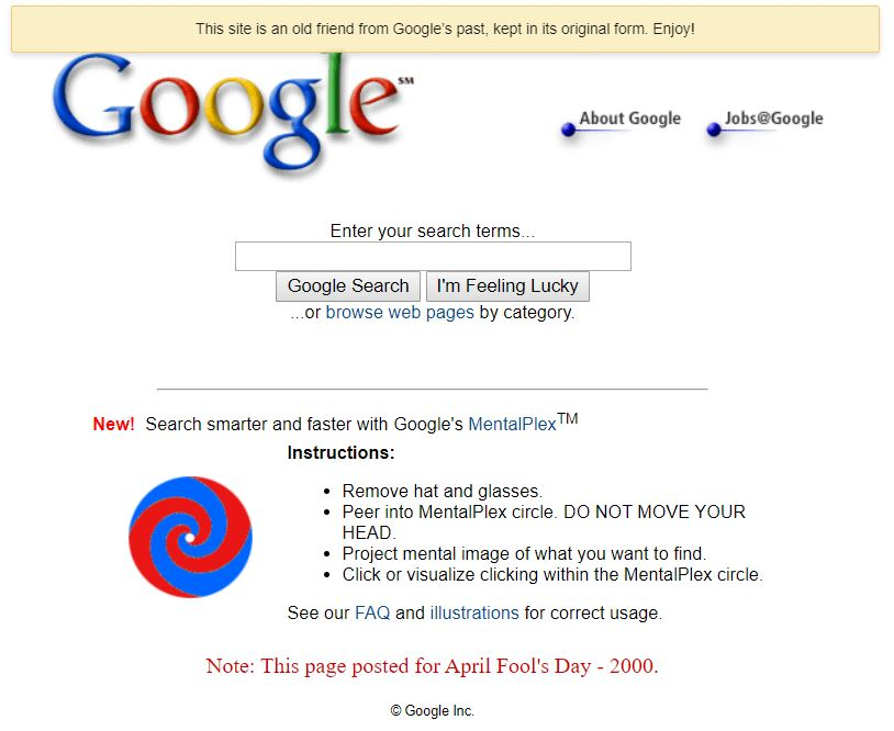 Google mentalplex circle