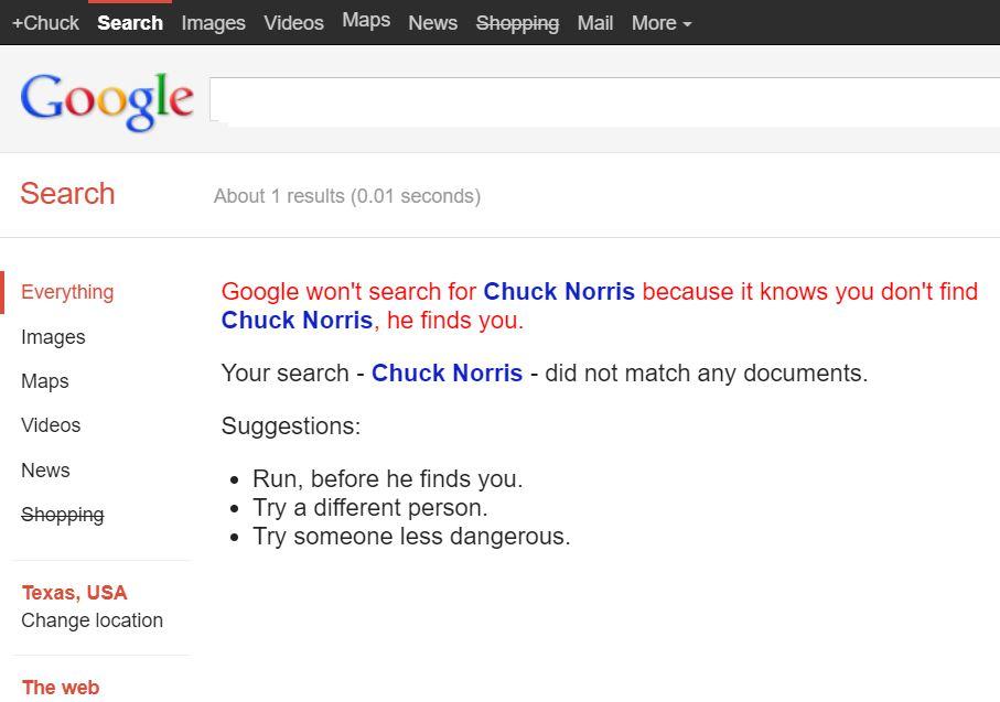 No Chuck Norris