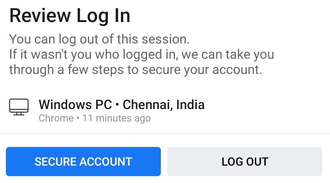 Log out account