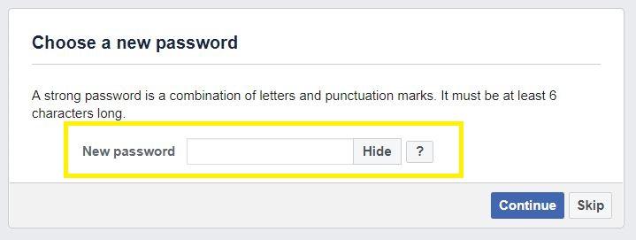 Type new password