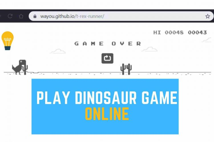 Play T-rex game online