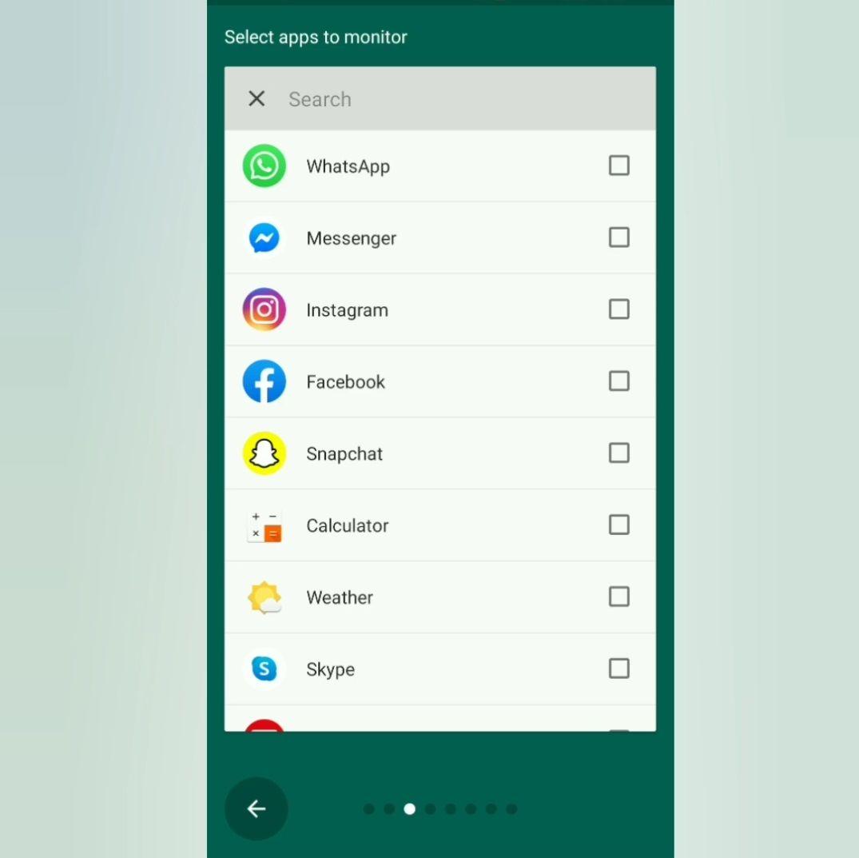 Select WhatsApp to Monitor notification