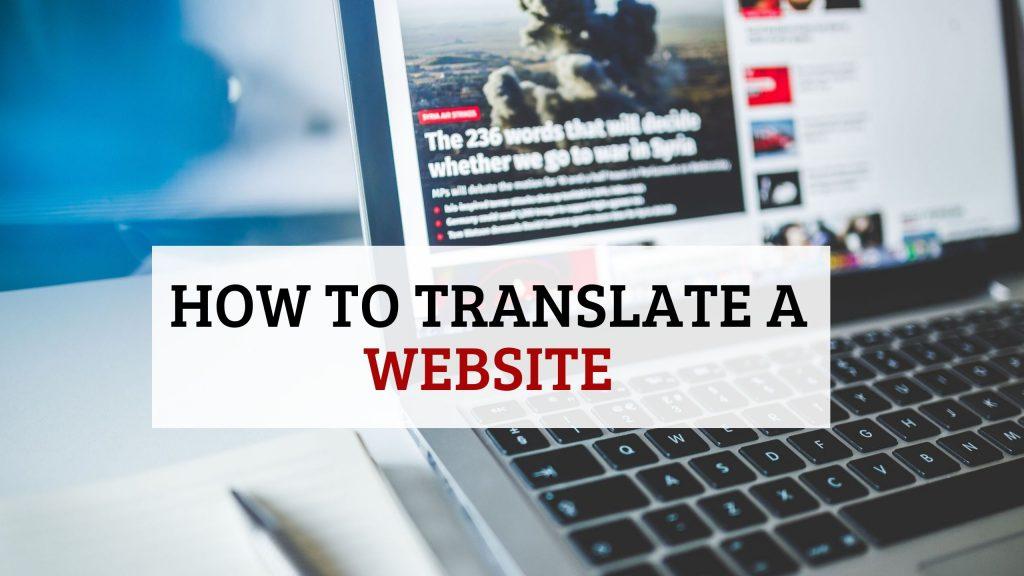 How to translate a Website