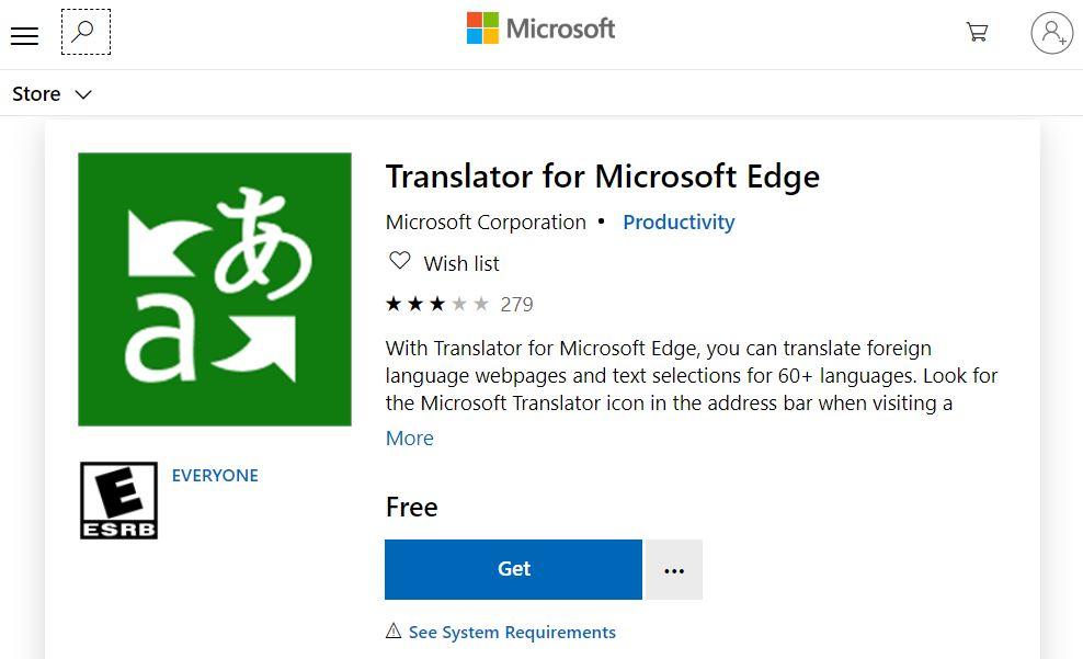 Translate a website using Edge