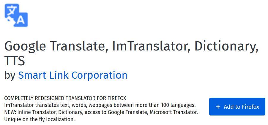 Translate a website using Firefox