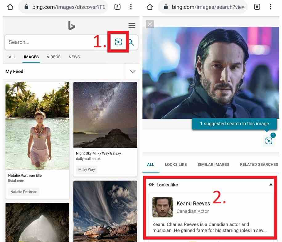Bing Reverse Image Search