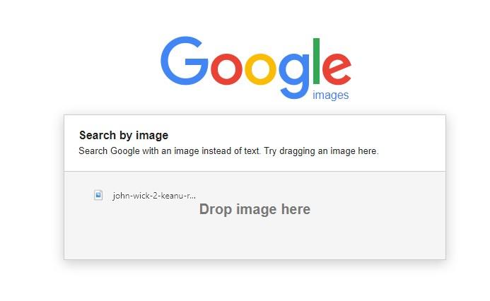 Google image drag and drop