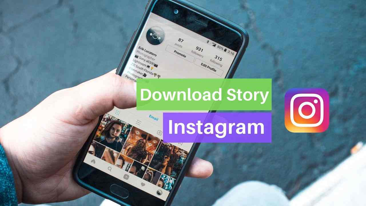Download Instagram story