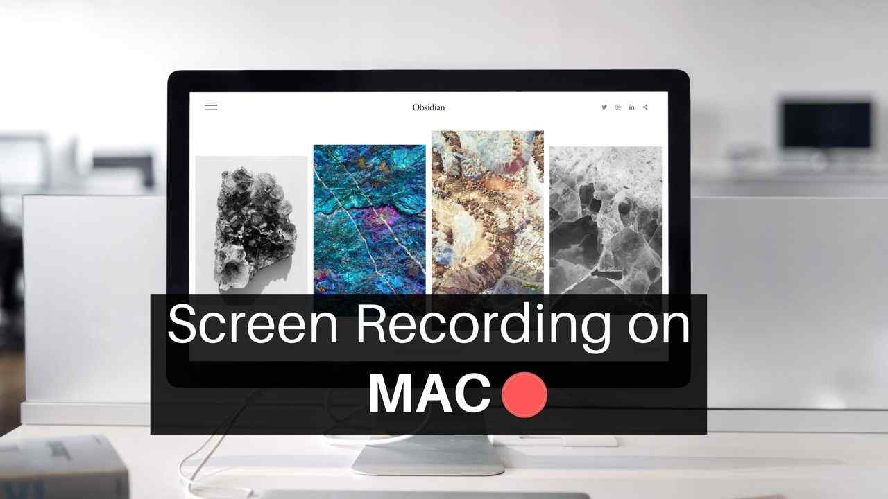 Screen recording on MAC