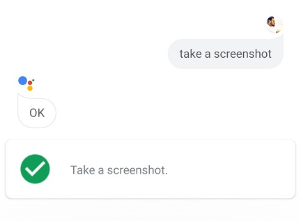 Screenshot using Google Assistant