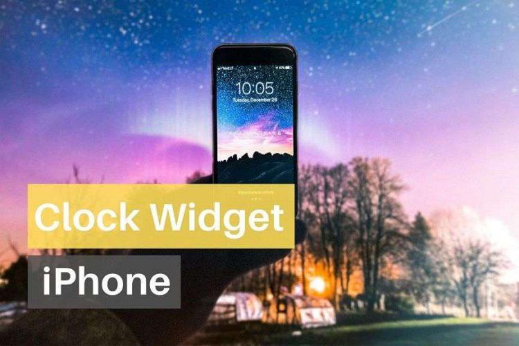 iPhone clock Widget