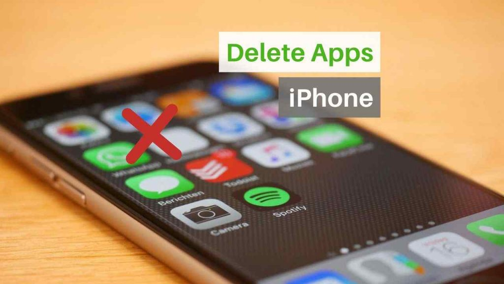 Delete apps on iphone and iPad