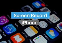 Screen record with sound on iPhone