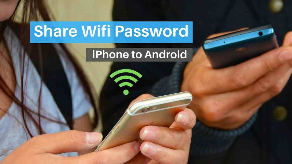 Share wifi password from iPhone to Android