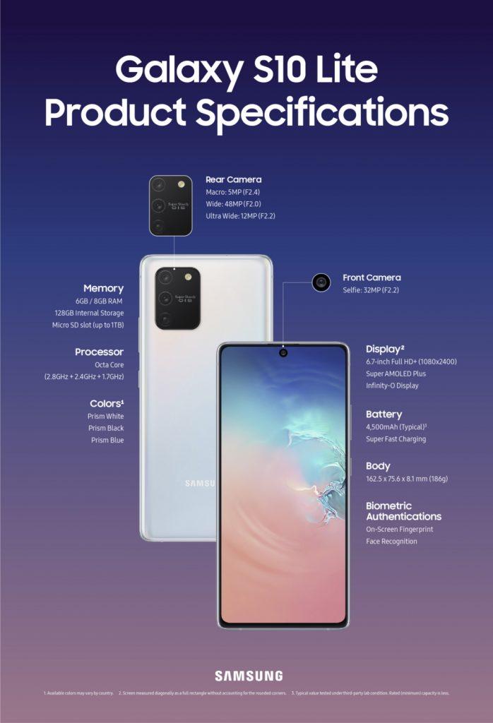 Galaxy-s10-lite-specs