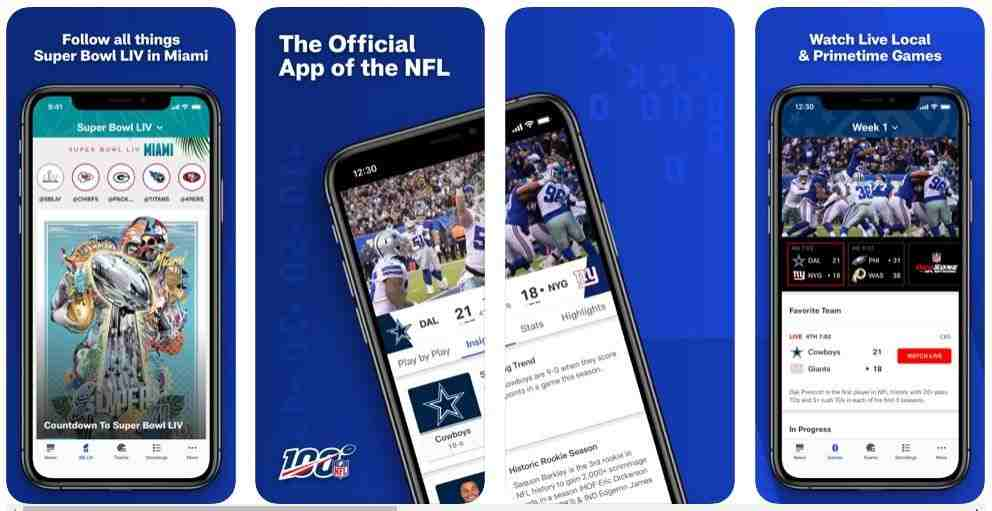 NFL App for iPhone and iPad