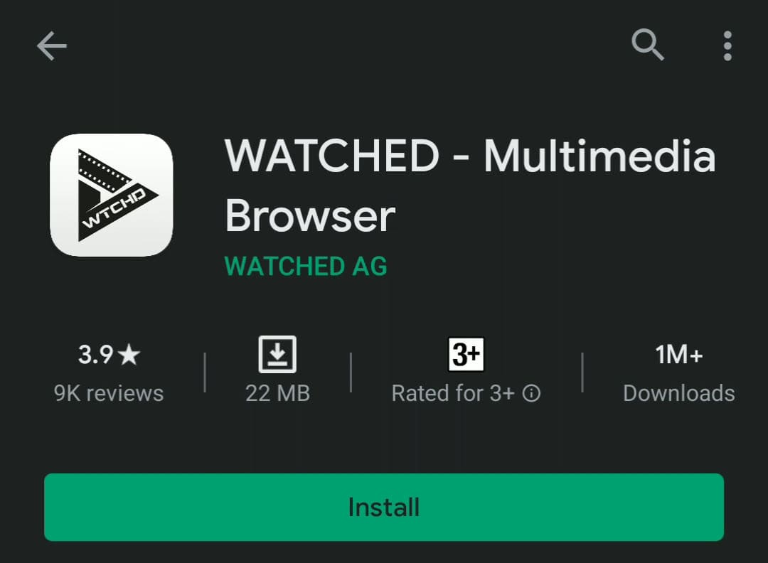 Install Watched