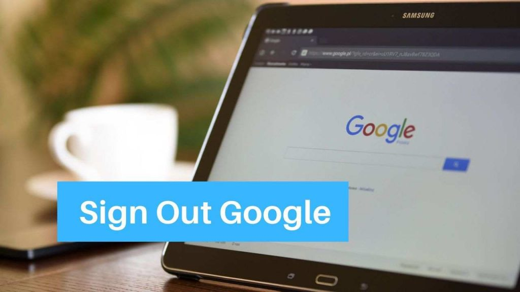 Sign Out of Google