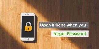 open iPhone when you forgot password