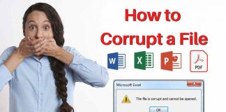 How to corrupt a file
