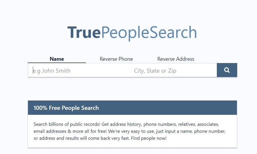 True People search