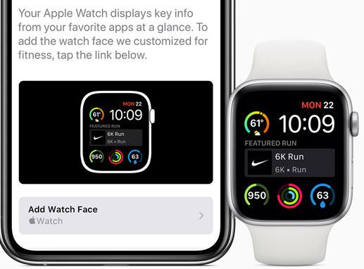 Share Apple watch face