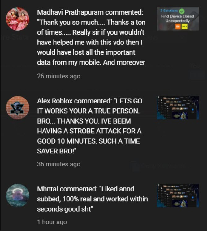 Waftr YouTUbe comments
